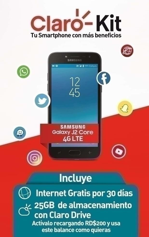 Compra tu Samsung Galaxy J2 Core Negro con más beneficios.