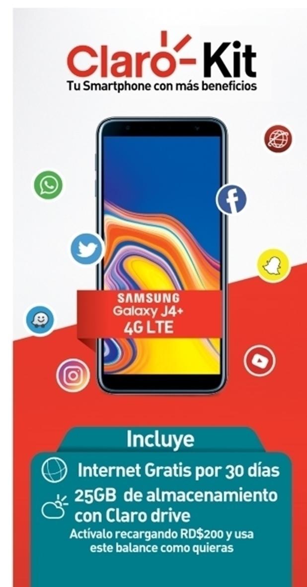 Compra tu Samsung Galaxy J4 Plus Black con más beneficios.